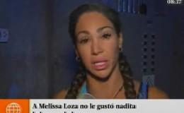 """Melissa Loza está """"decepcionada"""" de sus compañeros de EEG"""