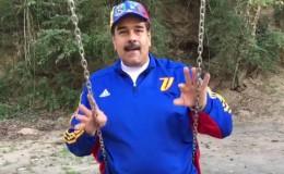 Facebook: Nicolás Maduro dio mensaje por Semana Santa desde un columpio