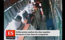 San Juan de Lurigancho: delincuentes asaltan dos días seguidos una farmacia