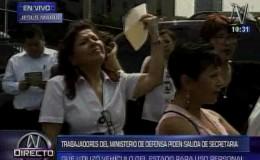 Mindef: gremio de trabajadores pide la salida de secretaria general