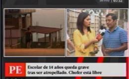 Callao: escolar queda grave tras ser atropellado por un auto