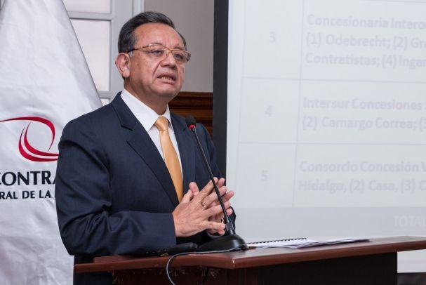 Contralor Edgar Alarcón. Foto: Agencia Andina