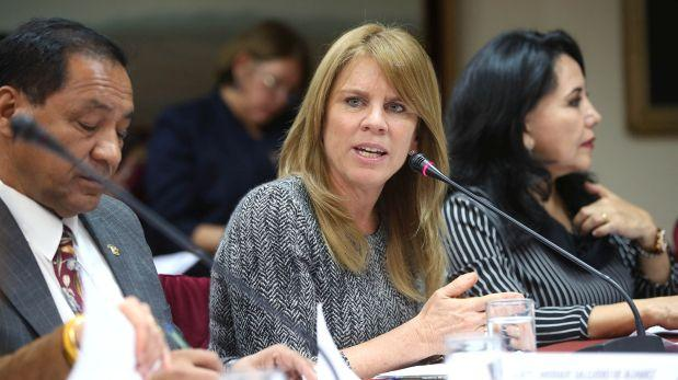 Cayetana Aljovín, titular del MIDIS. Foto: El Comercio.