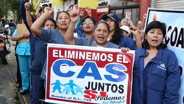 Trabajadores CAS gozarán de derechos laborales. Foto: La República