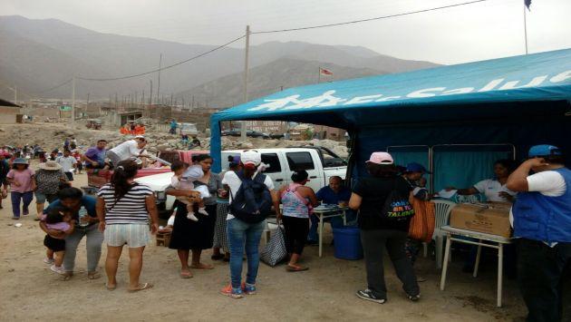 Damnificados por huaicos en Carapongo. Foto: Perú21