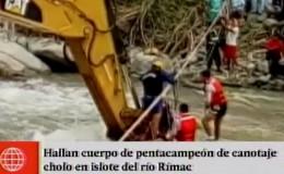 Río Rímac: hallan cuerpo de pentacampeón de 'canotaje cholo'