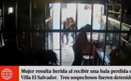 Villa El Salvador: mujer resulta herida al impactarle una bala perdida