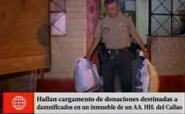 Policía encontró ropa donada a damnificados en vivienda del Callao