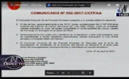 Piura: Comando Conjunto de FF.AA. emite comunicado tras caída de helicóptero