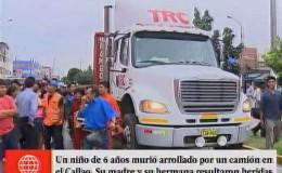 Callao: niño de tres años murió atropellado por un camión