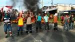 Iquitos: trabajadores de construcción civil bloquean carretera - Noticias de alerta noticias