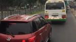 Auto invade vía exclusiva de buses en cruce de avenidas Marsano y Villarán - Noticias de alerta noticias