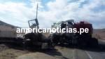 Arequipa: dos ciudadanos murieron tras el choque de dos tráilers - Noticias de juan pari