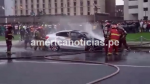 Cercado de Lima: incendió de auto frente al Palacio de Justicia causó alarma - Noticias de vmt