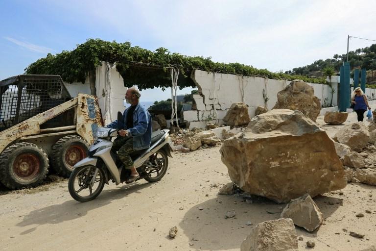 Daños generados por el terremoto en Lesbos Grecia