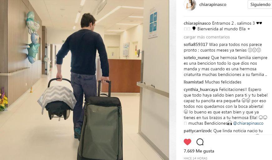 Chiara Pinasco se convirtió en madre