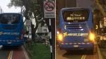 Miraflores: bus que transporta pasajeros del aeropuerto estaciona en lugares prohibidos - Noticias de simulacros de sismo