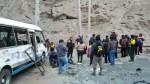 Cieneguilla: reportan varios heridos tras despiste de una cúster - Noticias de cieneguilla