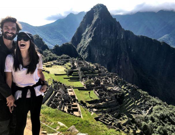 Ana Brenda Contreras e Iván Sánchez en Machu Picchu
