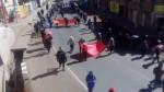 Puno: profesores en huelga bloquearon la vía que lleva a Juliaca - Noticias de desmanes
