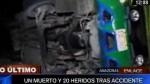 Amazonas: un muerto y 20 heridos deja accidente vehicular - Noticias de accidente de bus