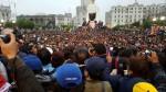 Profesores en huelga realizaron plantón en la plaza San Martín - Noticias de puente santa rosa