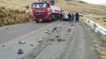 Huancavelica: maestros bloquean con piedras la carretera a Huancayo - Noticias de paro agrario