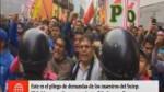 Huelga de profesores: conoce el pliego de demandas...