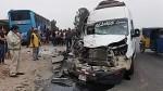 Trujillo: seis heridos dejó impacto entre bus interprovincial y minivan - Noticias de accidente