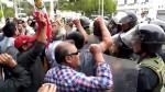 Chiclayo: Policía y trabajadores de Tumán se enfrentaron durante protesta - Noticias de detenidos