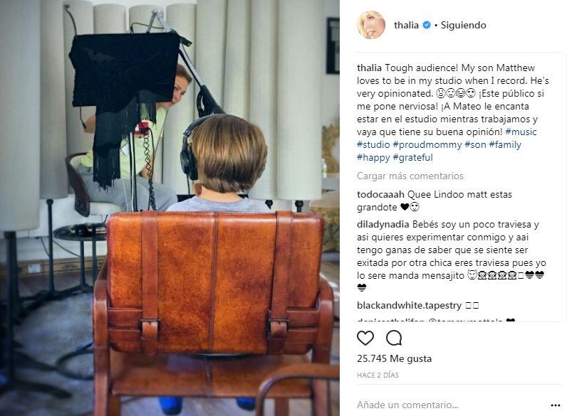Thalía comparte tierna foto de su hijo