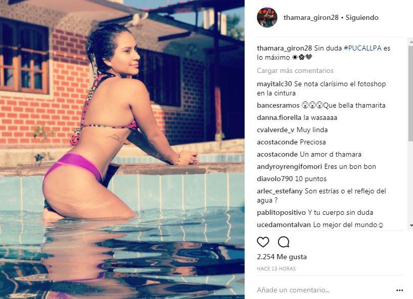 Thamara Gómez luce sexy en Pucallpa