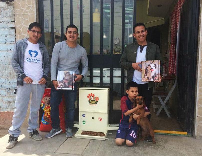 Dispensador de comida para perros en Lima