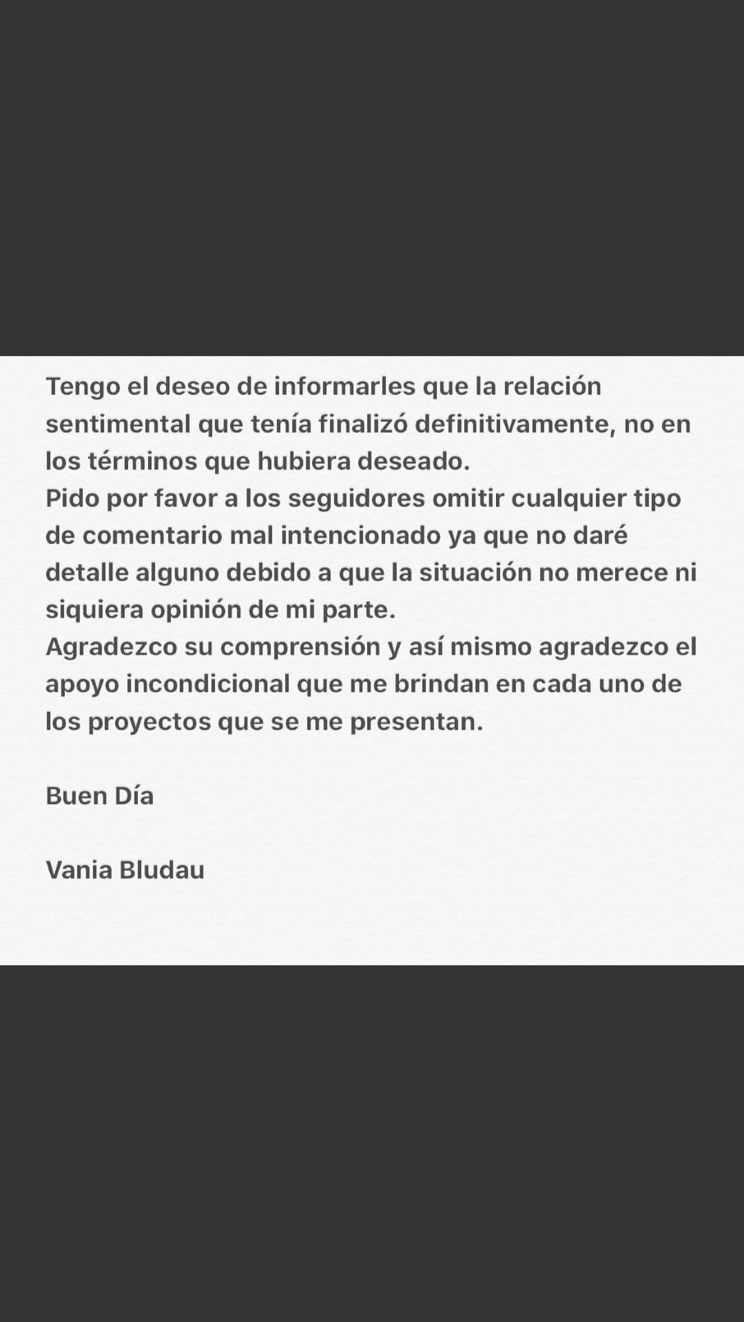 Vania Bludau y Frank Dello Russo terminaron definitivamente