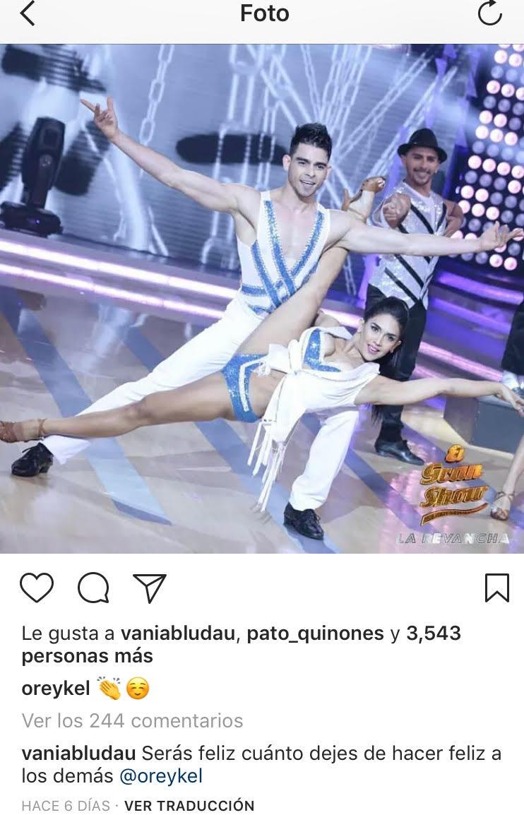 Vania Bludau deja mensaje a Oreykel Hidalgo