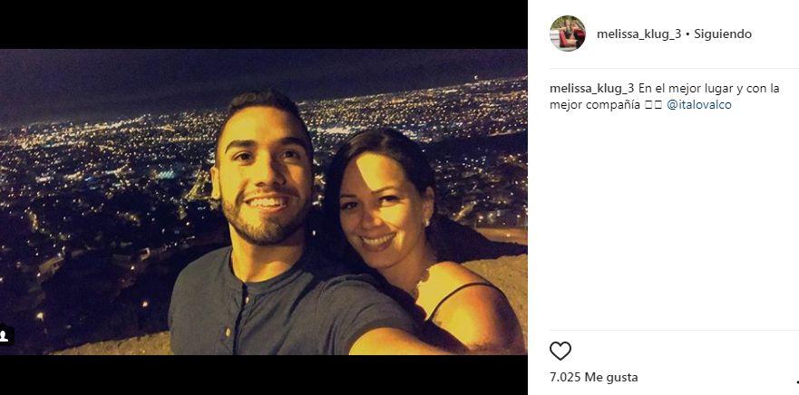 Melissa Klug feliz con Ítalo Valcárcel
