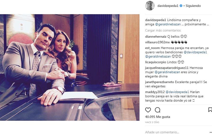 Geraldine Bazán y David Zepeda